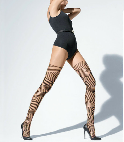 Details about WOLFORD CAPTIVATE BONDAGE STYLE TIGHTS SAHARA/BLACK BNWT SIZE XS