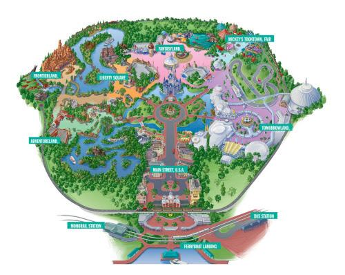 magic kingdom map 2011. Magic Kingdom Park Map
