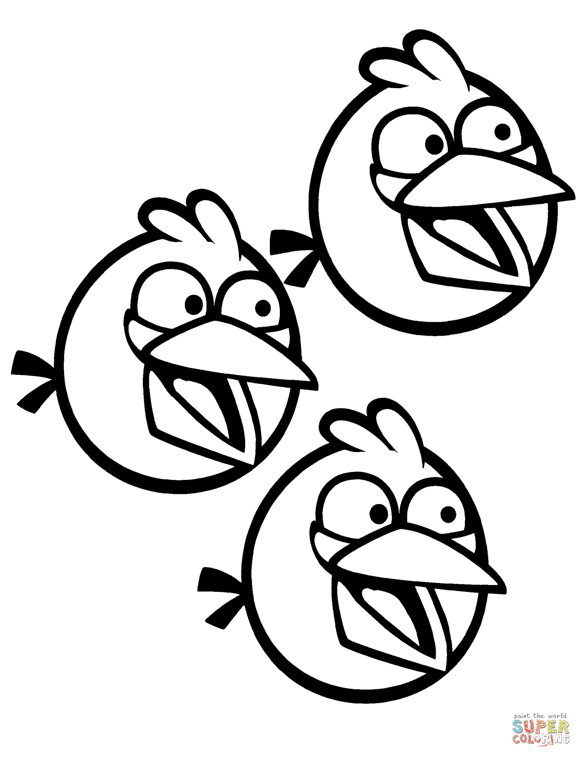 Gratis Kleurplaten Angry Birds.Free Printable Angry Birds Coloring Pages