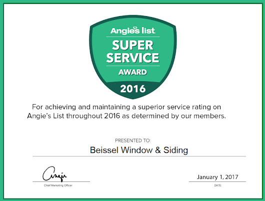 Angieslist Super Service Award | Beissel Window and Siding | St. Paul & Minneapolis, MN