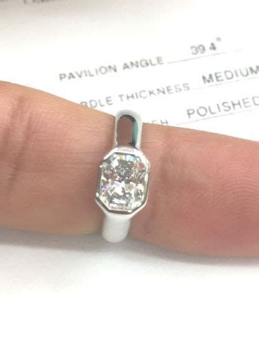 ideas  bezel set engagement rings