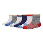 Hanes TB27W6 Boys Toddler Ankle - Assorted - 4T