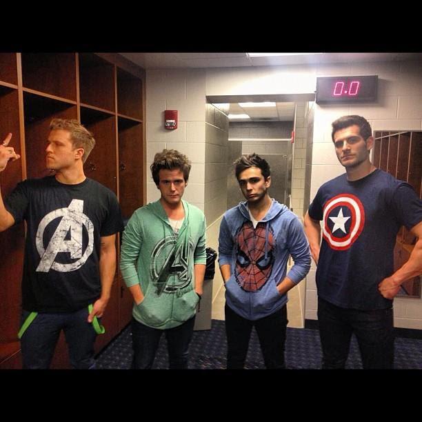 Anthem Lights in Marvel attire!