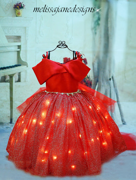 New - Lights Camera Action Girls Lighted Dress