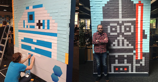 Your office needs giant 'Star Wars' murals made from Post-it notes