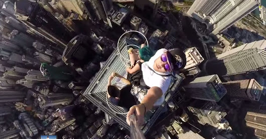 2 Bananas, 1,135 Feet and 1 Ridiculously Dangerous Selfie