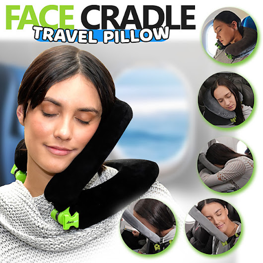 FaceCradle, World's Best Travel Pillow - Not Any Gadgets