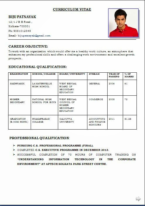 Resumes And Cover Letters Office Latest Professional Resume Formats In Word Format For Free