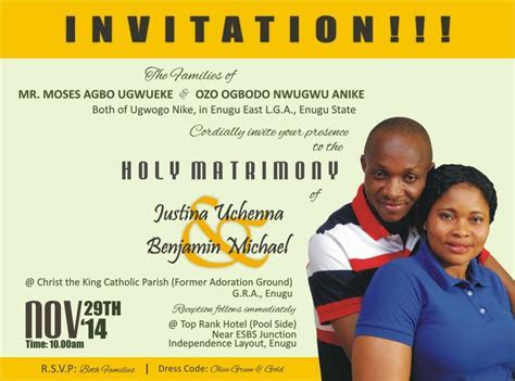 Wedding Invitation!   Romance   Nigeria