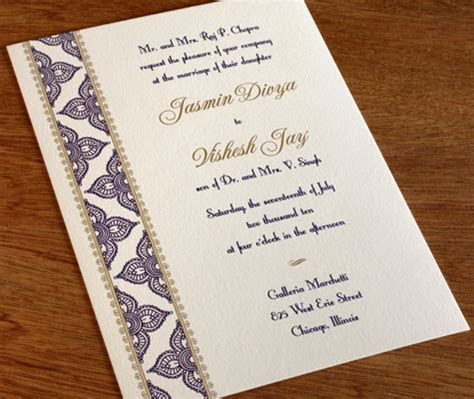 Letterpress Wedding Cards for Hindu Brides   letterpress