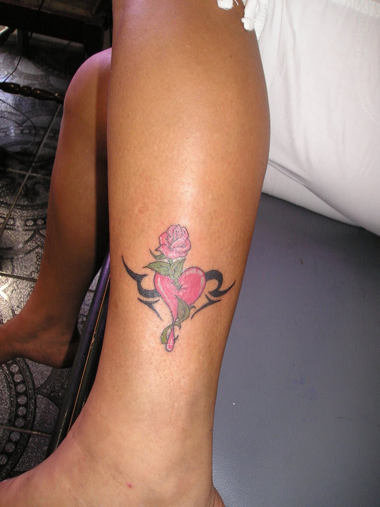 Heart And Roses Tattoos