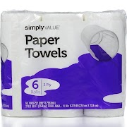 Simply Value Towels - 6 ct