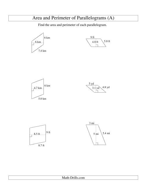 Area Triangle And Trapezoid Worksheet Pdf Tecfilecloud