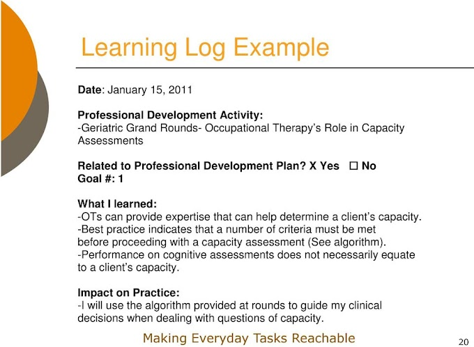 Occupational Therapy Goals Examples