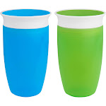 Munchkin Miracle 360 Sippy Cup Portable Drinkware - Green/Blue 10oz 2ct
