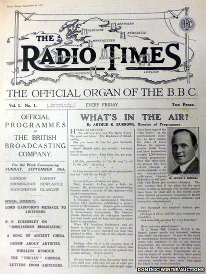 first edition of the radio times
