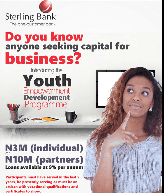 Sterling Bank Plc Youth Innovative Entrepreneurship Development Programme (YIEDP) 2016
