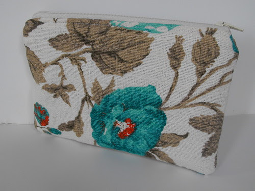 Vintage-Like Barkcloth pouch