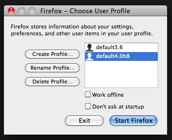 Firefox profiles 2