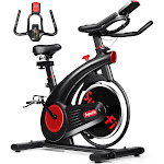 Stationary Exercise Bike Silent Belt with 20LBS Flywheel | Costway