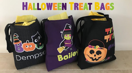 Personalized Kids Halloween Treat Bags