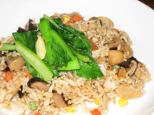rice and garlic choy sum