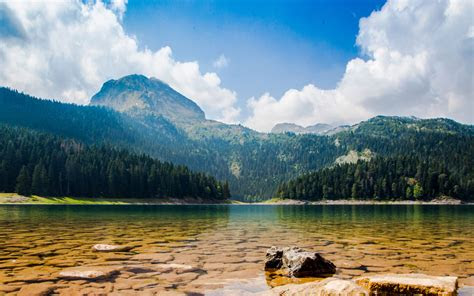 black lake lake national park durmitor  town zabljak