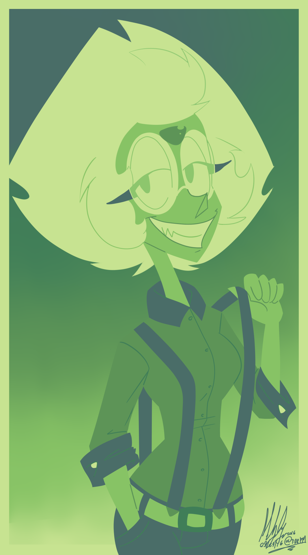 "Peridot in the ""This Is My Swamp"" palette! (Requested by anon)"