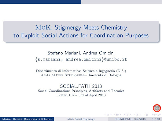 MoK: Stigmergy Meets Chemistry to Exploit Social Actions for Coordi...