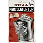 "Fitz All Glass Percolator Top, Clear, 0.81""-1.5"""