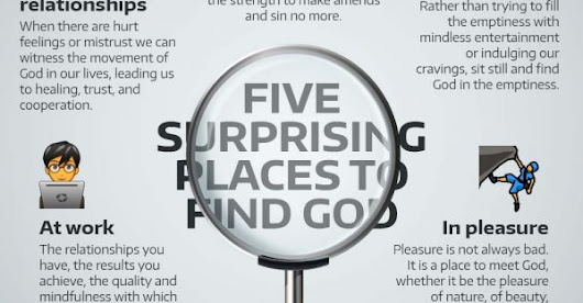 Infographic: 5 surprising places to find God | Catholic-Link