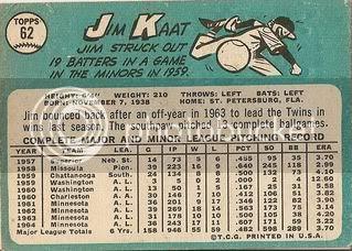 #62 Jim Kaat (back)
