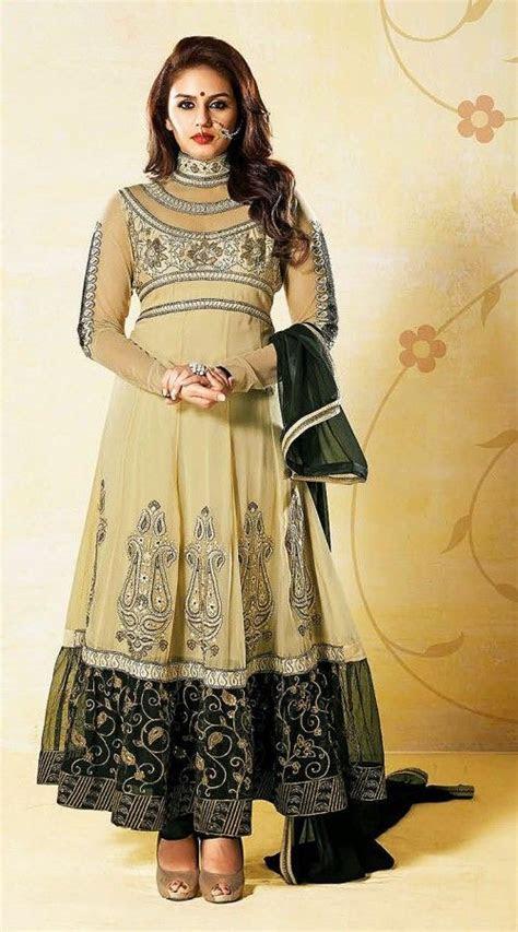 Huma Qureshi In Dusty Cream Anarkali Suit AG721051   HUma