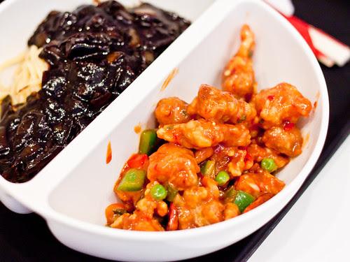 Half jajangmyeon + half tang soo yook