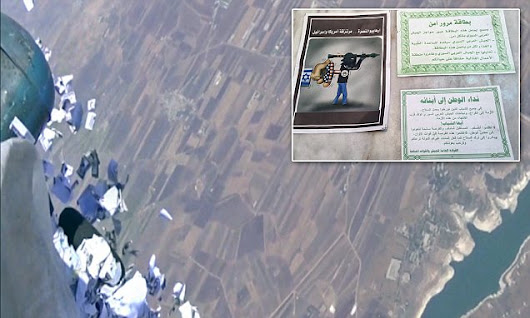 Russian jets drop flyers on Syria warning people to get out