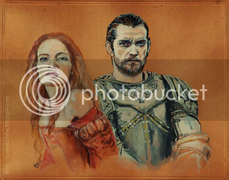 Gabrielle Anwar Henry Cavill Charles Brandon Margaret Tudor The Tudors painting portrait peinture dessin liz douce folie