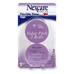Nexcare 3M Flexible Clear Tape - 2 Rolls Of 1 X 360 Inches, 1 Ea