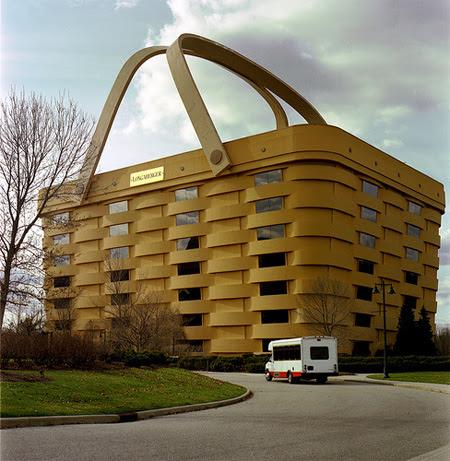 ilginç, bina, apartman gökdelen tasarımları piknik sepeti