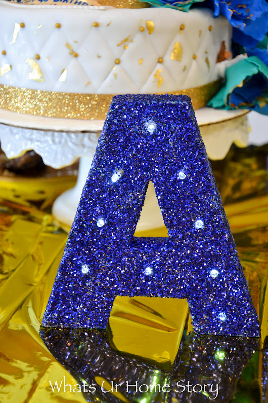 DIY Glitter Marquee Letter - Whats Ur Home Story