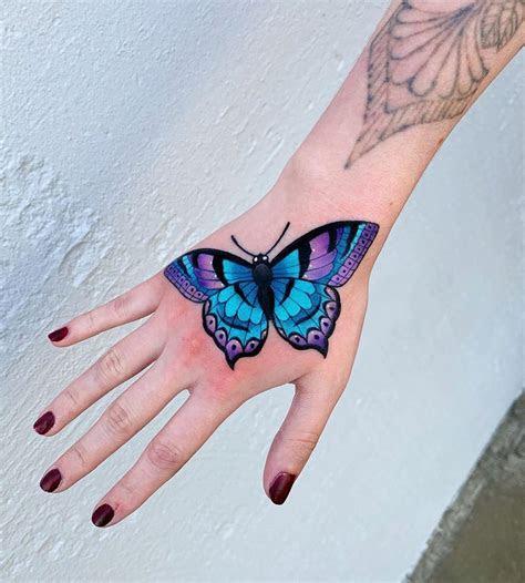 butterfly hand tattoo tattoo design ideas