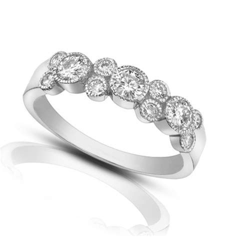 1.00 ct Ladies Round Cut Diamond Wedding Band Ring In