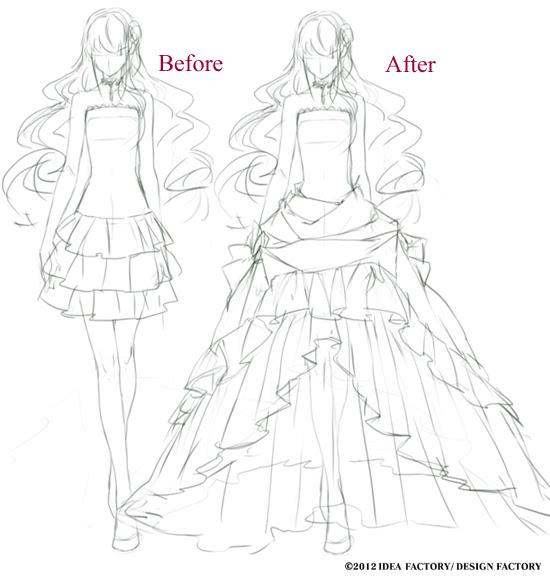 イラスト ドレス 描き方