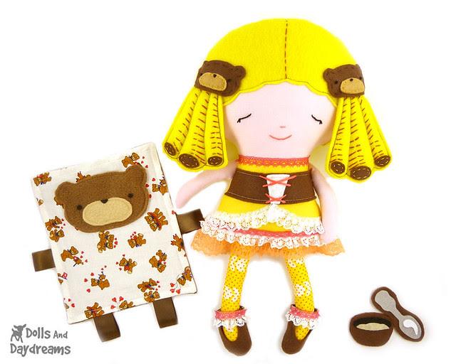 Goldilocks doll sewing pattern