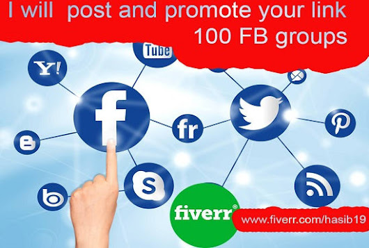 hasib19 : I will manually post and promote your link 100 largest fb group for $5 on www.fiverr.com