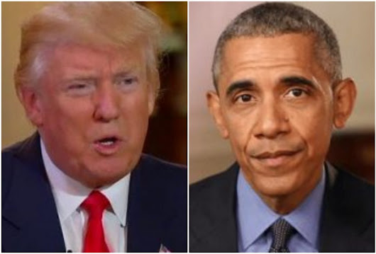 President Trump believes Obama's behind WH leaks, and it doesn't surprise him