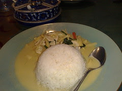Green curry at Chao Phra Ya Thai in Herndon