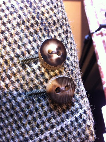 Hayward tweed jacket stag horn buttons