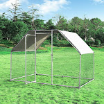 Costway 9.5' x 6.5' Large Walk in Chicken Run Cage PS7221+ WC