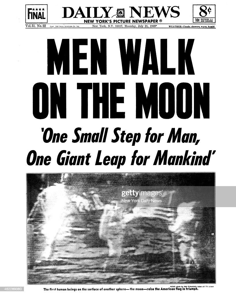 Daily News Front Page Men Walk on the Moon Pictures | Getty Images