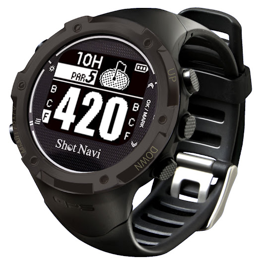 Shot Navi W1-GL Golf GPS Watch - Black